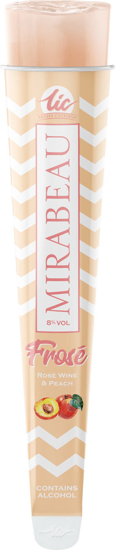 Peach Frosé: Mirabeau Wine